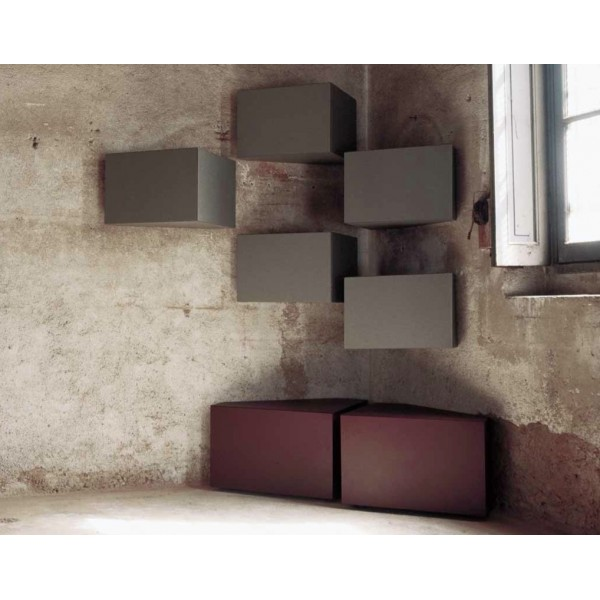 meuble d 39 angle mural minotti italia ang design claudio bitetti. Black Bedroom Furniture Sets. Home Design Ideas