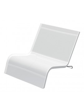 Deckchair for outdoor Serralunga Lazy 2 seater design Michel Bouquillon