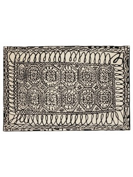 Rug Nanimarquina Black on white Estambul design Javier Mariscal