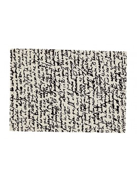 Rug Nanimarquina Black on white Manuscrit design Joaquim Ruiz Millet