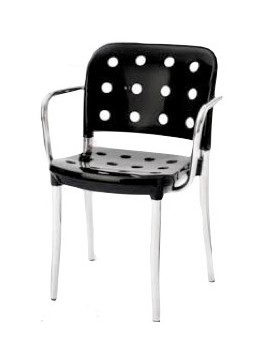 Chair with armrest Tisettanta Minni A4 design Antonio Citterio