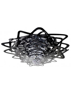 Lamp ceiling Slamp Aurora black design Nigel Coates