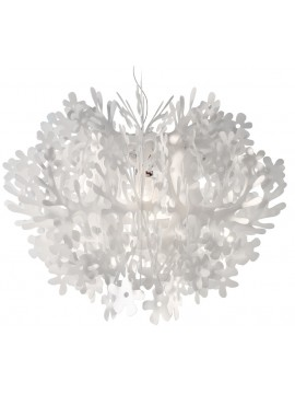 Lamp pendant Slamp Fiorella white design Nigel Coates
