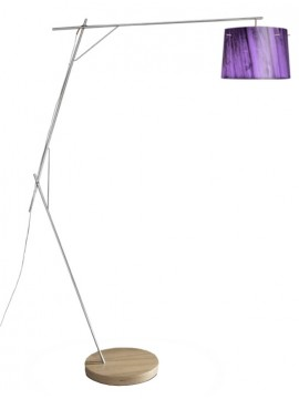 Lamp floor Slamp Woody Purple design Luca Mazza