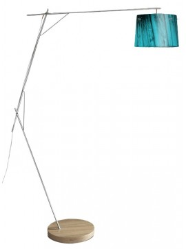 Lamp floor Slamp Woody Blue design Luca Mazza