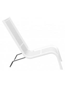 Deckchair for outdoor Serralunga Lazy 1 seater design Michel Bouquillon