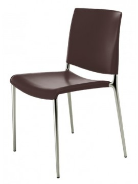 Chair in eco-leather Rexite Alexa design Raul Barbieri