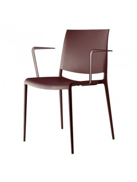 Chair with armrest Rexite Alexa design Raul Barbieri