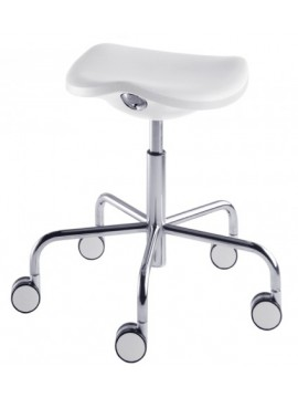 Stool with height adjustable Rexite Welcome design Raul Barbieri