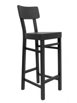 Bar stool Gervasoni Black 128 design Paola Navone
