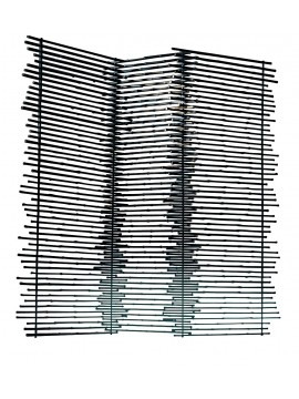 Folding screen Gervasoni Black 90 design Paola Navone