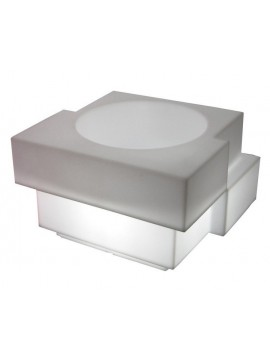 Flower pot luminous Slide design Cubic YO Light design Giulio Cappellini
