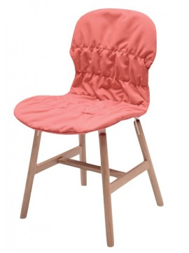 Chair fabric or leather Casamania Stereo Wood design Luca Nichetto
