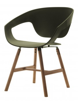 Fauteuil Casamania Vad Wood design Luca Nichetto