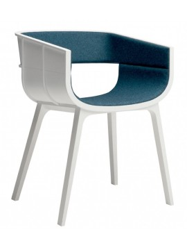 Chair in fabric Casamania Maritime S design Benjamin Hubert