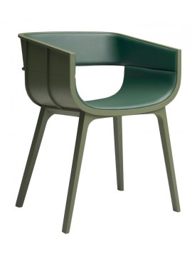 Chair in leather Casamania Maritime S design Benjamin Hubert