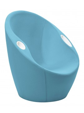 Armchair with accessories-rack Casamania Ouch design Karim Rashid