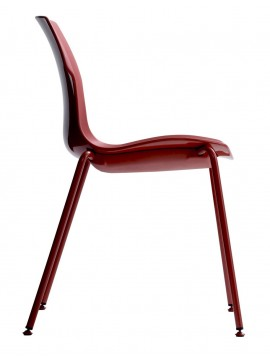 Chair version adjustable feet Casamania Stereo design Luca Nichetto