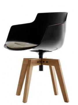 Chair Mdf Italia Flow Slim design Jean-Marie Massaud