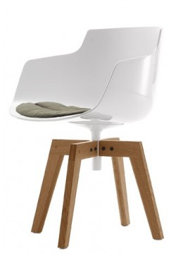 PROMO 3+1 Chair Mdf Italia Flow Slim design Jean-Marie Massaud