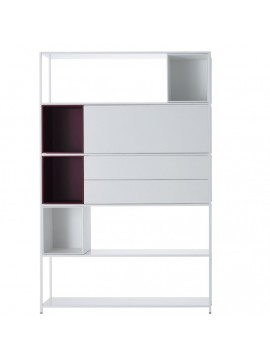 Bookshelves Mdf Italia Minima 3.0 - with storage design Bruno Fattorini & Partners