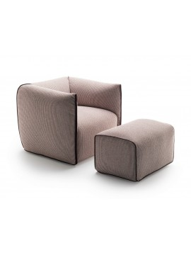 Armchair with pouf Mdf Italia Mia design Francesco Bettoni