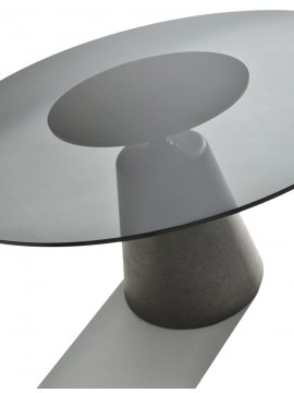 Table Mdf Italia Rock Table - glass design Jean Marie Massaud