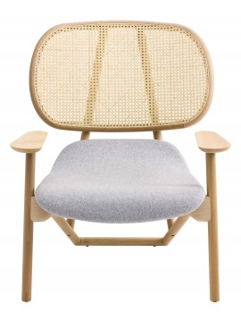 Armchair with back in cane Moroso Klara design Patricia Urquiola