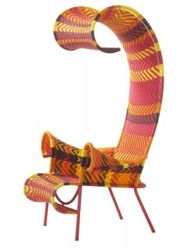 Armchair Moroso M'Afrique Shadowy design Tord Boontje