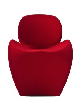 Small armchair Moroso Soft Little Heavy design Ron Arad