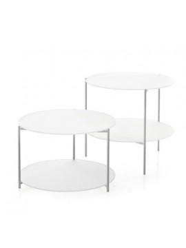 Couple coffee tables Moroso Byobu design Nendo