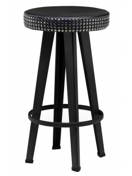 Stool in leather Diesel with Moroso Bar Stud Stool design Diesel Creative Team