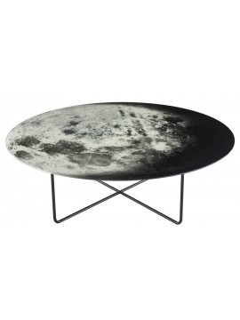 Tavolino basso Diesel with Moroso My Moon My Mirror Table Ø 100 cm design Diesel Creative Team