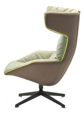 Armchair with quilt Moroso Take a line for a walk design Alfredo Häberli