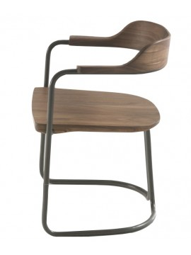 Chaise avec accoudoir Riva 1920 Tubular design Jamie Durie