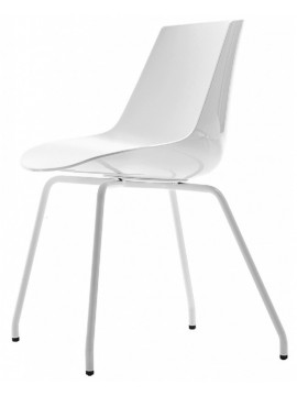 Chair Mdf Italia Flow chair - 4 gambe design Jean Marie Massaud