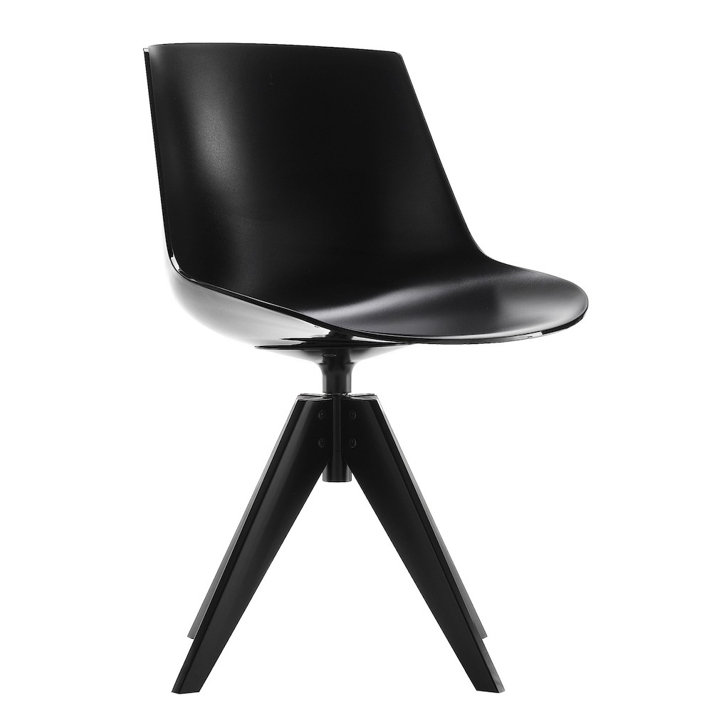 sedia mdf italia flow chair 4 gambe vn acciaio design jean marie. Black Bedroom Furniture Sets. Home Design Ideas