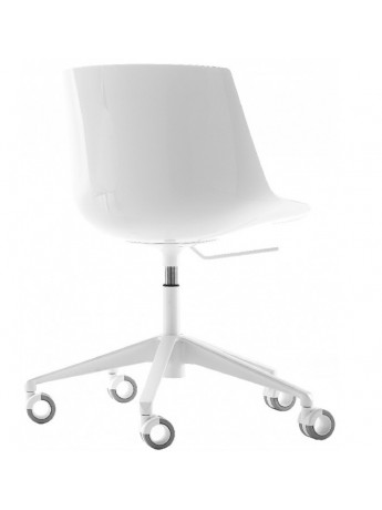 Sedia Design Regolabile.Sedia Mdf Italia Flow Chair 5 Razze Regolabile Con Ruote Design Jean Marie Massaud