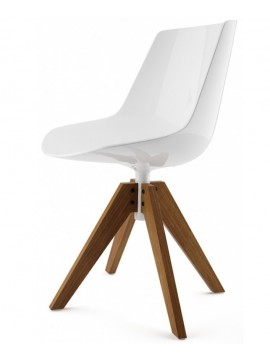 Chair Mdf Italia Flow chair - 4 gambe rovere VN design Jean Marie Massaud