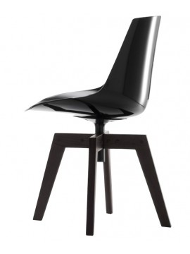 Chair Mdf Italia Flow chair - 4 gambe rovere design Jean Marie Massaud
