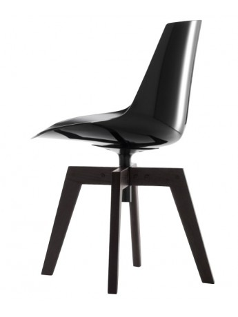 Chaise Mdf Italia Flow chair - 4 gambe rovere design Jean Marie...