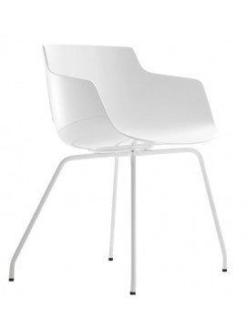Chair with armrest Mdf Italia Flow Slim - 4 gambe design Jean Marie Massaud