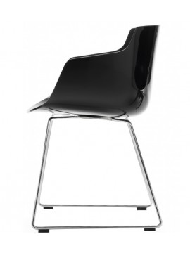 Chair with armrest Mdf Italia Flow Slim - Slitta design Jean Marie Massaud