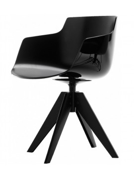 Chair with armrest Mdf Italia Flow Slim - 4 gambe VN acciaio design Jean Marie Massaud