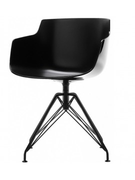 Chair with armrest Mdf Italia Flow Slim - 4 gambe LEM design Jean Marie Massaud