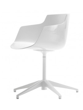 Chair with armrest Mdf Italia Flow Slim - 5 razze fissa design Jean Marie Massaud