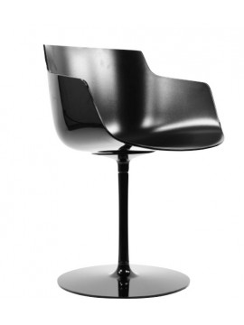 Chair with armrest Mdf Italia Flow Slim - a stelo design Jean Marie Massaud