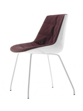 Chair padded Mdf Italia Flow chair - 4 gambe design Jean Marie Massaud