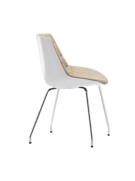 Chair padded Mdf Italia Flow chair - 4 gambe cromo design Jean Marie Massaud