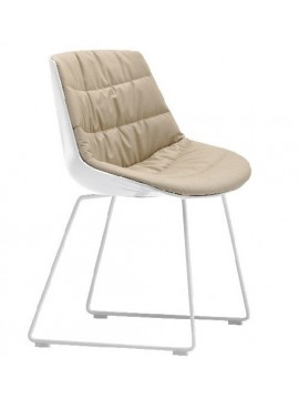 Chair padded Mdf Italia Flow chair - Slitta design Jean Marie Massaud
